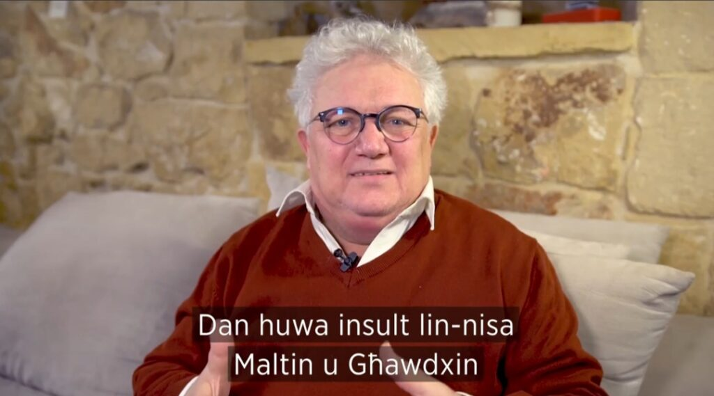 """Filmat: """"Insult lejn in-nisa Maltin u Għawdxin"""" – Peppi Azzopardi"""