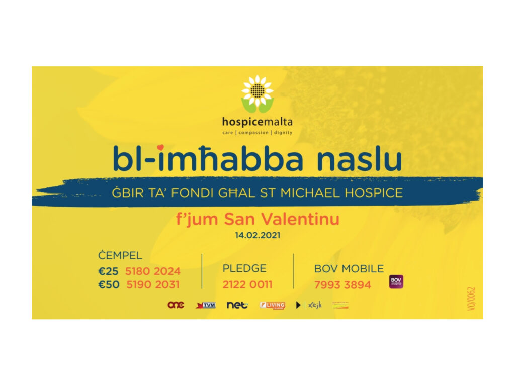 Bl-Imħabba Naslu – Għada 14 ta' Frar – Maratona b'risq Hospice Malta