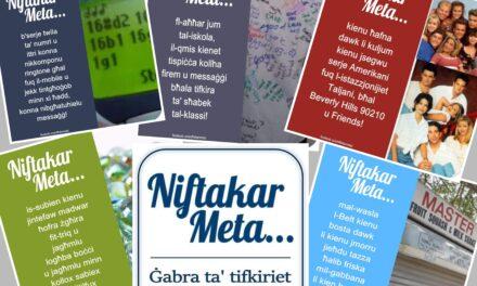Niftakar Meta – Paġna ta' Nostalġija u Tifkiriet