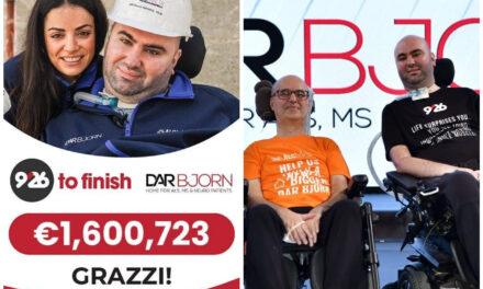 Jinġabru €1,600,723 waqt il-maratona ta' ġbir ta' fondi għat-tieni Dar Bjorn
